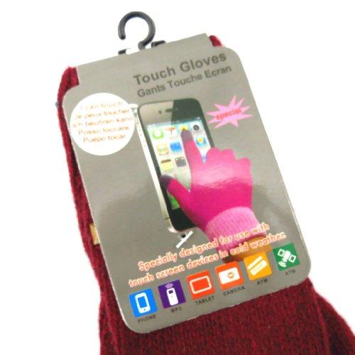 Les Trésors De Lily [K6771] - 2 paires de gants 'Indispensable' taupe bordeaux (écran tactile)