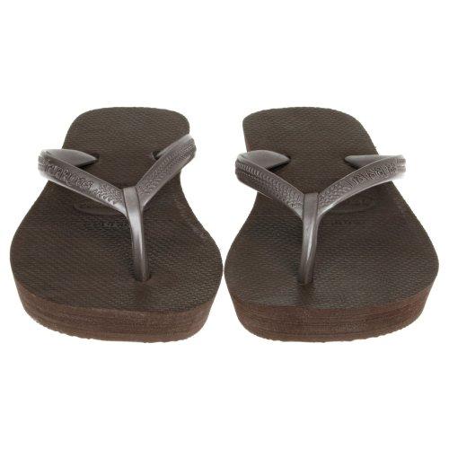 Havaianas - Sandalias de vestir de goma para mujer marrón marrón