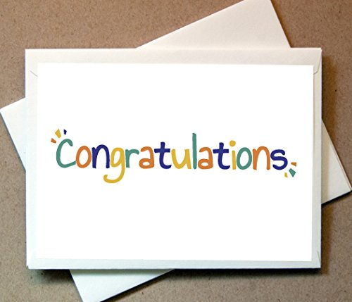 Congratulations Greeting Cards (20 Foldover Cards and Envelopes)