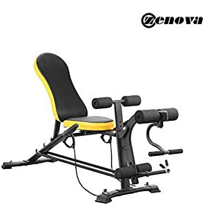 ZENOVA Adjustable Weight Bench, Flat Incline/Decline Exercise Workout Bench