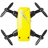 Owill Mini S9HW Altitude Hold 0.3MP HD Camera 6-Axis Foldable WIFI RC Quadcopter Helicopter (Yellow)