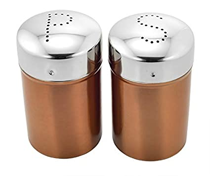 ba893e56f15 Buy Vinayak International Stainless Steel Salt   Pepper Coloured 200 ml Set  of 2 Pcs Online at Low Prices in India - Amazon.in