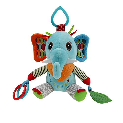 Homyl Campanilla Colgando Felpa de Bebés Cochecito Juegos de Construcción Muñecas Accesorios - Elefante: Amazon.es: Juguetes y juegos
