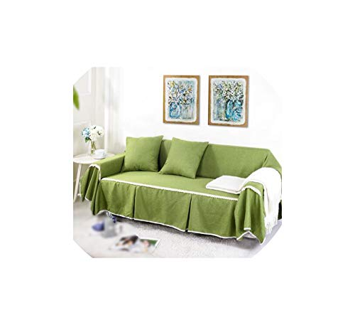 Kaka-home Linen Polyester Sofa Cover Towel Slipcover 1/2/3/4-Seat Single/Two/Three/Four- Stretch Cover for Couch Sofa,06 Sofa Towel 1PCS,Right Chaise 170x260
