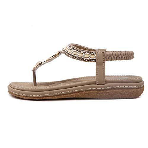 bas de Chaussures air Boho beiges Chaussures à Summer plein Sandals chevrons d'été talons à tn6zTWqx