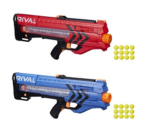 Amazon.com: Nerf Rival Zeus MXV-1200 Battle Gun Bundle Red and Blue Team (2  Pack): Toys & Games