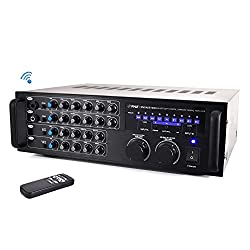Pyle 1000 Watt Bluetooth Stereo Mixer Karaoke Amplifier, Microphone/rca Audio/video Inputs, Mic-Talkover, Rack Mountable from PYLE