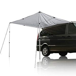 your GEAR Motorhome Tarp 260 x 240 Sonnensegel inkl. Aufstellstangen für Camping Bus Van Auto UV 50+ Schutz wasserdicht…
