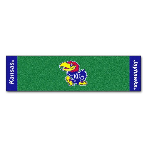 - Fanmats NCAA University of Kansas Jayhawks Nylon Face Putting Green Mat