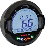Koso North America BB642W20 DL-03SR GP-Sytle Speedometer - Black Bezel
