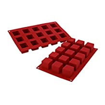 Silikomart SF105/C Silicone Classic Collection Mold Shapes, Cube, Small