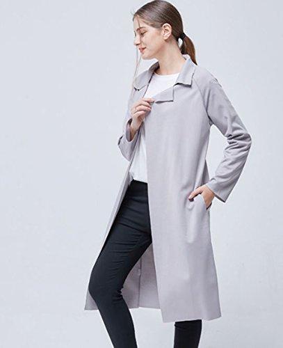YuanDian Baggy Couleur Manteau Long Super Lapel Automne Gilet Maille Manche Casual Longue Unie Femme RqwRraB
