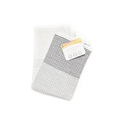 Full Circle Tidy 100% Organic Cotton Kitchen Towel, Grayscale