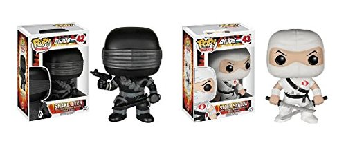 Funko POP! G.I. Joe: Snake Eyes & Storm Shadow - TV Cartoon Vinyl Figures NEW ()