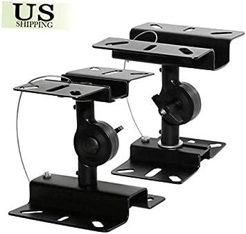 2-Pack Heavy Duty Speaker Wall Ceiling Mount Brackets Surround Sound Adjustable