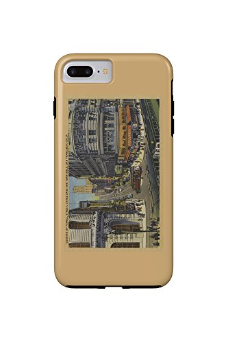 Cable Cars on Market and Powell Street San Francisco (iPhone 7 Plus Cell Phone Case, - Market And Francisco San Powell Street