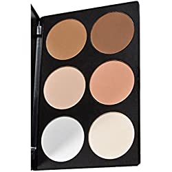 UZZO™Black Friday Deal Professional 6 Colors Concealer Camouflage makeup plate Contour Face Powder Blusher Blush Palette Makeup Blush Palette