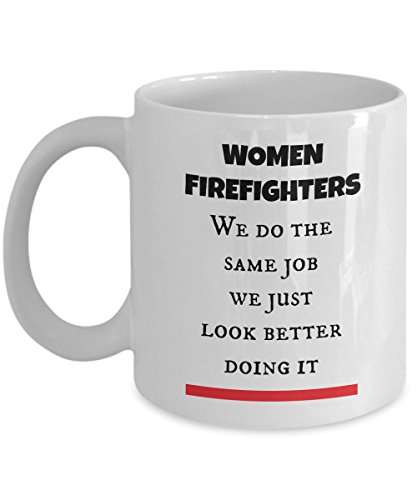 Thin Red Line Firefighter Women Gifts Cup as Seen on Shirts Best Firewoman Coffee Tea Mug for Mom, Wife, Girlfriend or any Lady Who are Wear the Fire Department Costume and Use Fire Truck Gear]()