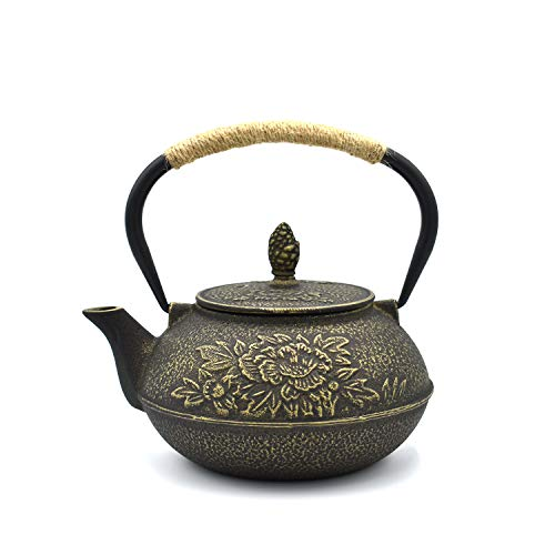 - JINGYAT Cast Iron Teapot (30 Oz) Japanese Tetsubin Tea Kettle Durable Cast Iron with Tea strainer and a Fully Enameled Interior