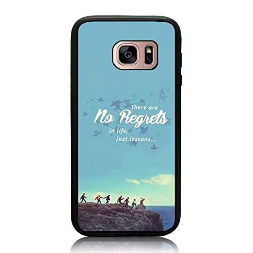 on sale d1916 394d5 Amazon.com: Galaxy S7 Case, BTS Papilon Quote Print Cover Soft TPU ...