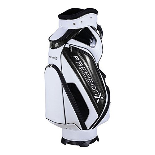 TRIPREL INC. 5-Way Golf Club Stand & Carry Bag w/ Bag Cap - White w/ Black Trim by Triprel Inc (Image #2)