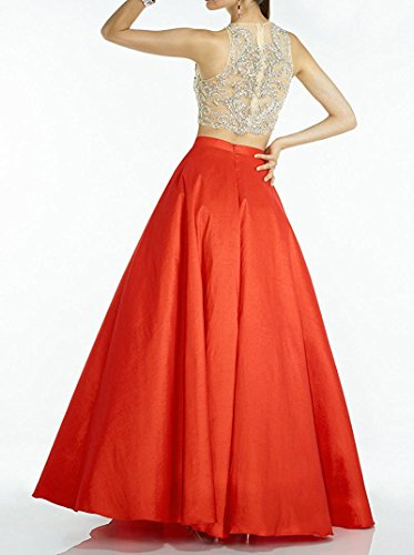 8cb08626f Momoai 2 Piece Beaded Bodice Ball Gown Crystal Prom Party Dresses Long M006  by Momoai (