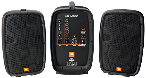 JBL EON206P Portable All-in-One 2-way PA System with 6-Channel Mixer by JBL Professional