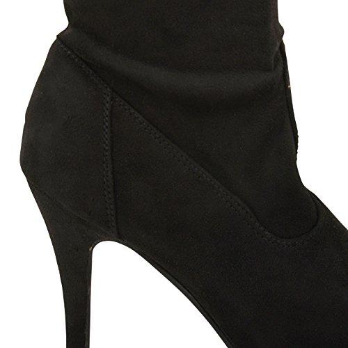 Footwear Sensation - Botas para mujer Black Suede