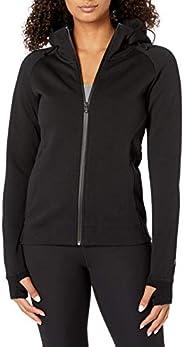 Amazon Brand - Core 10 Women's (XS-3X) Motion Tech Fleece Fitted Full-Zip Hoodie Ja