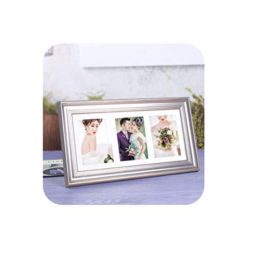 Pretty-Shop Pictures Frames Creative Nordic 7 Inch Combined One-Piece Photo Frame Wall-Mounted Platform Dual-Purpose Wedding Dress Photo Frame Decoration,B,52X31cm