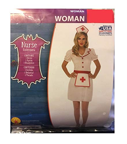 Classic Nurse Adult Woman Costume - Medium (8-10) White