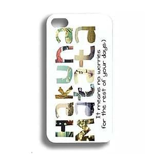NEW Elonbo J2T Hakuna Matata Hard Back Case Cover for iPhone 4/4S