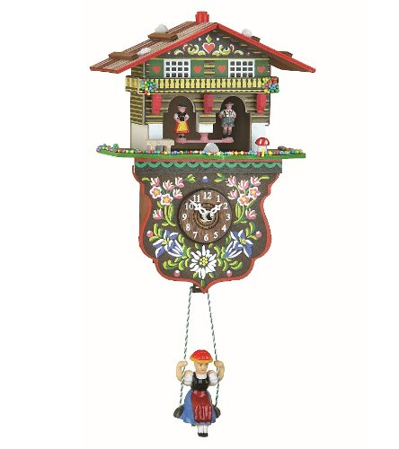 Trenkle Kuckulino Black Forest Clock weather house with quartz movement and cuckoo chime TU 2026 SQ