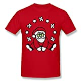 Hontiano Personalized Santa Claus T-Shirt Mens Casual Pre-shrunk Contemporary Fit