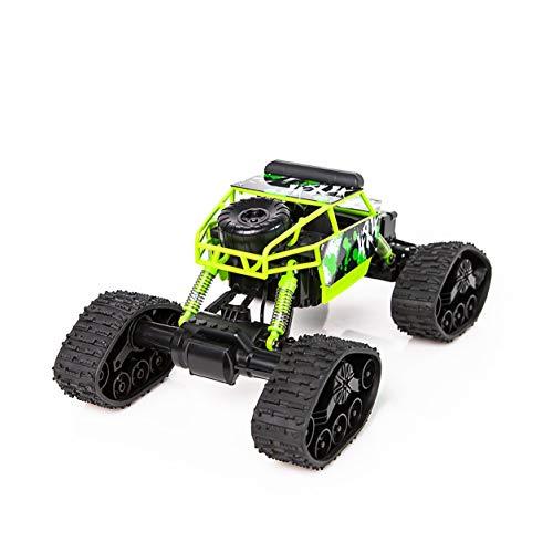 1〜18電動四輪駆動スノーモービル車輪形リモコンカー(カラー:グリーン)