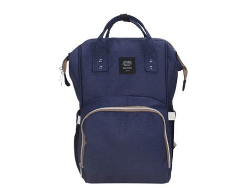 Baby Diaper Backpack  Stroller Straps   Changing Pad Included  Large Capacity Waterproof Bag  Navy Blue