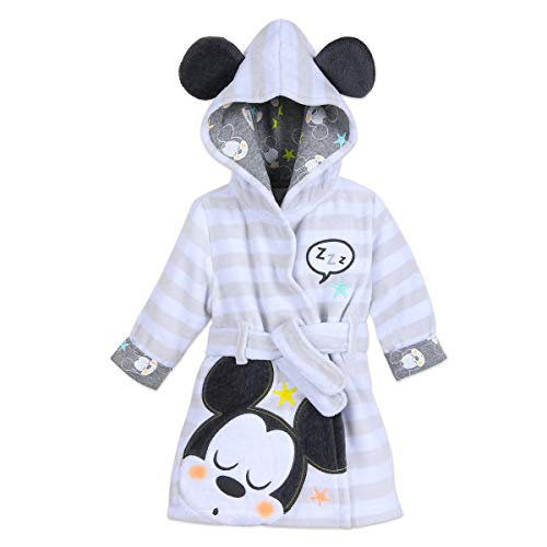 (Disney Mickey Mouse Hooded Bath Robe for Baby Multi)