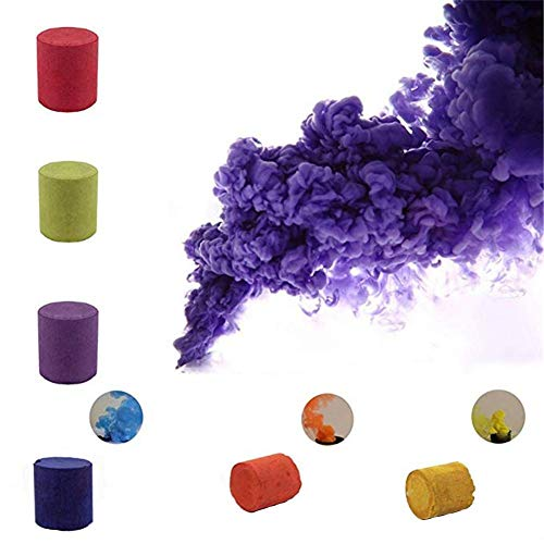 5pcs Colorful Smoke Magic Fun Toy Accessories Fireworks Scene Background Photography Props Magic Smoke Cake Color Random by Santree (Image #5)