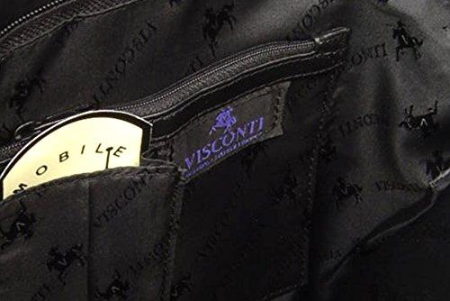 ville 18258 cuir Visconti Sac Noir de dos en à signé qSxnROtR18