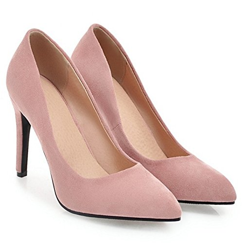 Coolcept Mujer Sin Cordones Stiletto Zapatos Pink-10CM