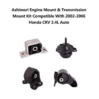 Ashimori Compatible With Honda CRV CR-V 2.4L 2002-2006 Auto AT Transmission Engine Motor Mount Set A6596 A6597 A4504 A4506: Automotive