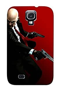 For Galaxy S4 Tpu Phone Case Cover(hitman Games Weapons Guns Pistol Assassin Men Males People Warrior Dark )