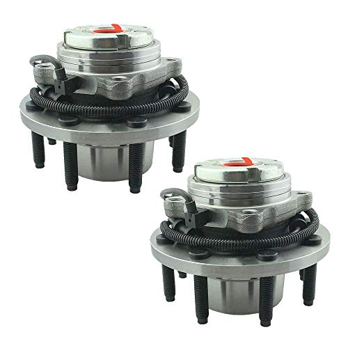 HU515020K x 2 Wheel Bearing Hub Assembly Front Left And Right Side (4WD Coarse Thread) Fit 00-02 Ford Excursion,02-04 F250, 99-04 F250, 99-04 F350, 03-04 F450 Super Duty