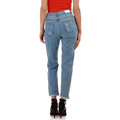 Taille La Jeans Haute Destroy Modeuse et dlav Bleu ECqCpFx