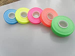 "5 Roll Pack UV Neon Gaffers Tape 1/2"" 15 ft Rolls ALL Colors"