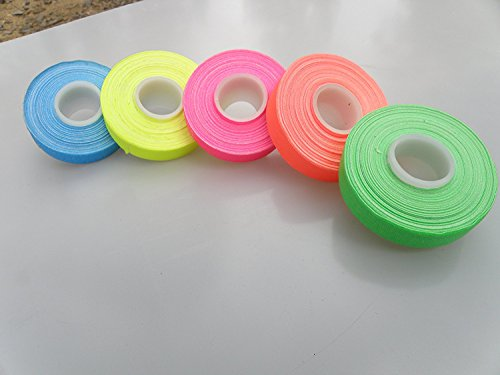 5 Roll Pack UV Neon Gaffers Tape 1/2 15 ft Rolls ALL Colors Great with Blacklight
