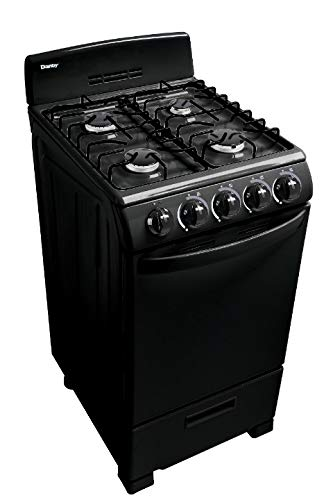 Danby 20-in. Gas Range with Sealed Burners, Electric Ignition and 2.3-Cu. Ft. Oven Capacity in White ()