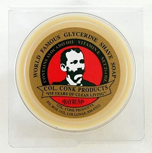 Colonel Conk Worlds Famous Shaving Soap, Bay Rum (Net Weight 4.50 Oz) - Two - Conk Soap Shave