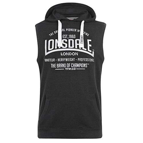 Lonsdale – Sudadera con capucha sin mangas para hombre