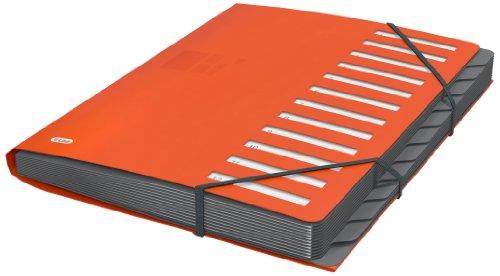 Elba 400033686 Business Ordnungsmappe, PP, 12 Fächer/Taben, 400 DIN A4-Blätter, orange